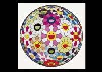 flowerball pink3d jellyfish eyes white 1 and and then and then and then and then and then pink3 works by takashi murakami