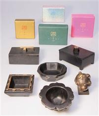 6 bronzeobjekte garouste/ bonetti edition blome by elizabeth garouste and mattia bonetti