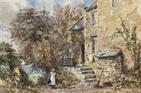 cottage near lancaster sands by david cox the elder