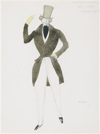 costume design for schumann's carnaval by leon bakst