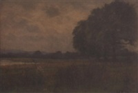 landscape near fay gate, sussex by george leon little