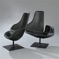 fjord easy chairs (pair) by patricia urquiola