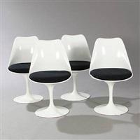 tulip chairs (set of 4) by eero saarinen