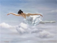 ballet in cloud by liu qiang