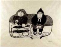 old couple by agnes nanogak