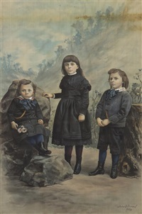 portrait of three children by asher brown durand