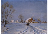 winterlandschaft by n. yagodkin