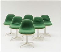 sechs beistellstühle lafonda (set of 6) by alexander girard and charles eames
