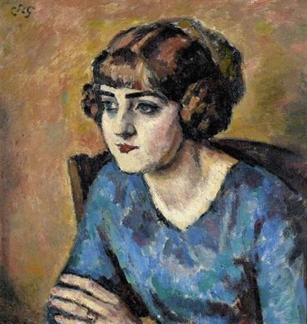 porträt einer eleganten dame by charles françois prosper guérin