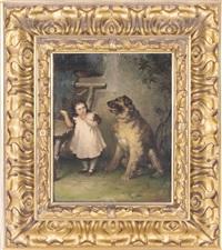 mädchen und hund by rudolf wimmer