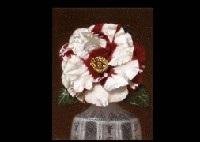 camellias in imari by masahiko yamanaka