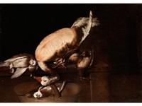 stilleben mit gans und waldschnepfe by giacomo francesco cipper