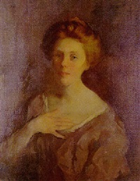 portrait of a lady by wilton robert lockwood