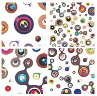 jellyfish eyes (white) (set of 4) by takashi murakami