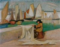 port de honfleur by anny lierow