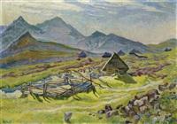 sennhütten im hochgebirge by waclaw wasowicz