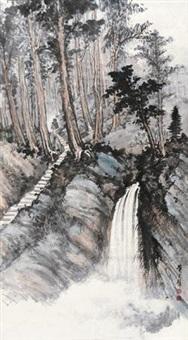 密林飞瀑 by huang junbi