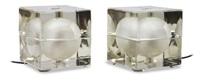 cubosfera coppia di lampade by alessandro mendini