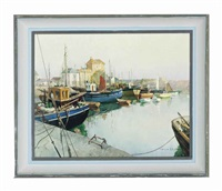 mevagissey harbour by vernon ward