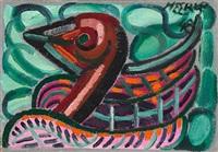 red bird by henry heerup