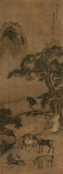 八骏图 (eight horses) by zhou xun