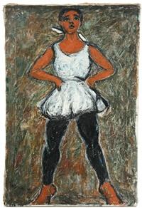 standing girl dancer by tadashi kagawa