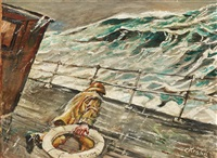 man overboard by christian krohg