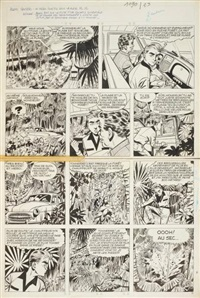 marc dacier pl. 12 (from le péril guette sous la mer) by eddy paape