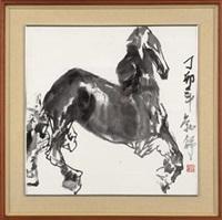 墨马 (ink horse) by liu boshu