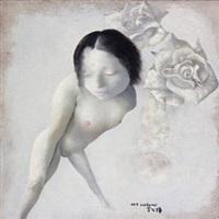 女孩·花 by luo fahui