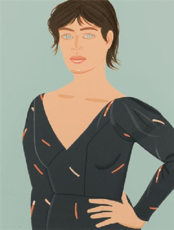 grey dress laura by alex katz