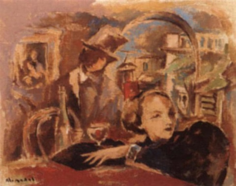 espera couple in café by walter nadal