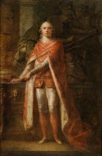 bildnis des marzio mastrilli, marchese (später duca) di gallo (1753-1833) im ornat des neapolitanischen januariusordens by friedrich heinrich füger