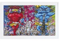 red demon and blue demon with 48 arhats by takashi murakami