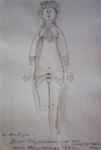 weiblicher akt by josef oberberger
