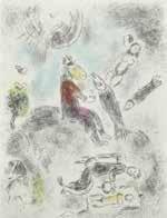 """blatt aus """"celui qui dit les choses sans rien dire"""" by marc chagall"""