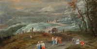 wallonische hügellandschaft mit reisenden by jan brueghel the younger