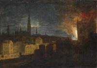 der brand des antwerpener rathauses am 04.11.1576 by daniel van heil