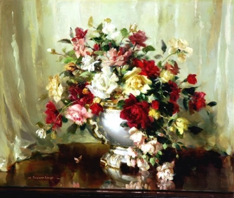 still life with flowers by vernon ward