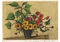 bouquet de soucis by bernard buffet