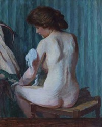 female nude by charles-jean agard