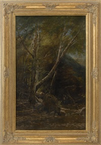 a forest interior by thomas addison richards