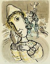 le cirque au clown jaune by marc chagall