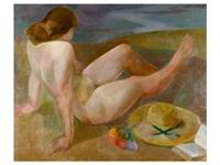 femme nue au chapeau by ramon ribas rius