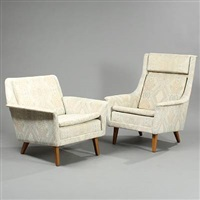 easy chairs (model 5462 and 5451) (pair) by folke ohlsson