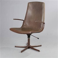 swivel chair by preben fabricius