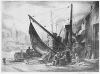 new york harbor by charles wheeler locke