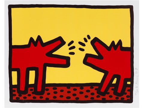 pop shop iv / barking dogs by keith haring
