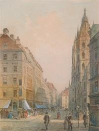 wien, stephansplatz by johann wilhelm frey