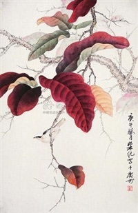 红叶小鸟 by liang ji